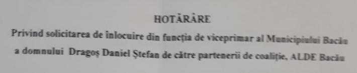 decizie PSD demitere viceprimar Bacau